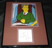 VP Dan Quayle The Simpsons Signed Framed 11x14 Photo Display JSA