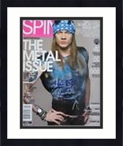 W Axl Roses 2002 Guns Roses Signed Autographed Spin Magazine Beckett Certified