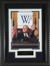 W. - George W Bush Movie signed by Josh Brolin 22X30 Masterprint Movie Poster Custom Rope Framed (entertainment/photo)
