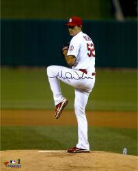 """Michael Wacha St. Louis Cardinals Autographed 16"""" x 20"""" Vertical Leg Up Photograph"""
