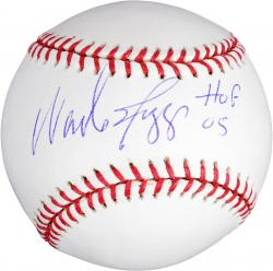 Wade Boggs Boston Red Sox Autographed Baseball with ''HOF '05'' Inscription - Mounted Memories