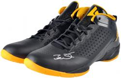 Dwyane Wade Miami Heat Autographed Black & Yellow Shoes with Yellow Logo with Black Laces - Mounted Memories