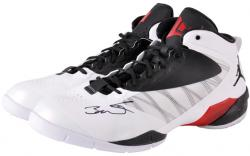 Dwyane Wade Miami Heat Autographed Black & White Shoes & Black Laces - Mounted Memories