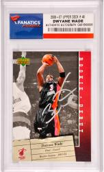 Dwyane Wade Miami Heat Autographed 2006-2007 Upper Deck #48 Card - Mounted Memories