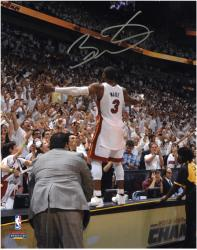 Dwyane Wade Miami Heat 2012 Finals Champs Autographed 8'' x 10'' Celebration Photograph - Mounted Memories