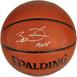 Dwyane Wade Miami Heat Autographed Spalding Indoor Outdoor Basketball with Flash Inscription - Mounted Memories