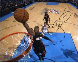 Dwyane Wade Miami Heat 2012 Finals Champs Autographed 8'' x 10'' Dunk Photograph - Mounted Memories