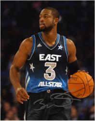 "Dwyane Wade Miami Heat Autographed 8"" x 10"" All Star Game Photograph - Mounted Memories"