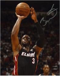 "Dwyane Wade Miami Heat Autographed 8"" x 10"" Chalmers in Background Photograph - Mounted Memories"