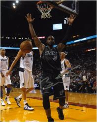 "Dwyane Wade Miami Heat Autographed 8"" x 10"" vs. Dallas Mavericks Photograph - Mounted Memories"