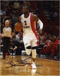 "Dwyane Wade Miami Heat Autographed 8"" x 10"" Dribbling Up Court Photograph"