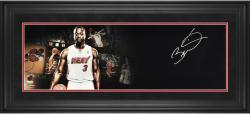 Dwyane Wade Miami Heat Framed Autographed 10'' x 30'' Film Strip Photograph - Mounted Memories