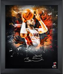 Framed Dwyane Wade Miami Heat Autographed 20x24 In Focus Photograph