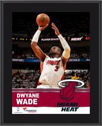 Dwyane Wade Miami Heat Sublimated 10.5'' x 13'' Plaque - Mounted Memories