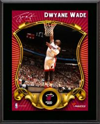 Dwyane Wade Miami Heat Sublimated 10.5'' x 13'' Stylized Plaque - Mounted Memories