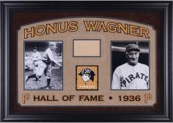 """Honus Wagner Pittsburgh Pirates Deluxe Horizontal Framed Collectible with 2.5"""" x 3.5"""" Autographed Cut"""