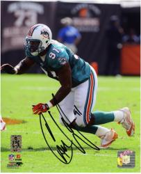 """Cameron Wake Miami Dolphins Autographed 8"""" x 10"""" Action Photograph"""