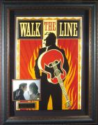 Walk The Line Joaquin Phoenix & Witherspoon Signed Frame