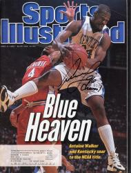 """WALKER, ANTOINE AUTO """"96 CHAMPS"""" (4/8/96) SPORTS ILLUSTRATED - Mounted Memories"""