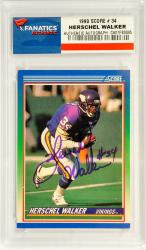 Herschel Walker Minnesota Vikings Autographed 1990 Score #34 Card - Mounted Memories