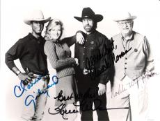 "WALKER, TEXAS RANGER"" Signed by NORRIS, GILYARD JR., WILSON, and WILLINGHAM 10x8 B/W Photo"