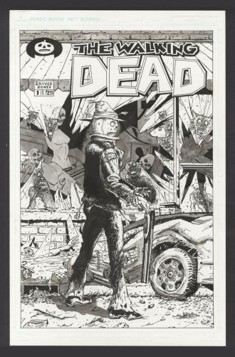 Walking Dead #1 Original Art Commission Cover Recreation Matthew Kirscht