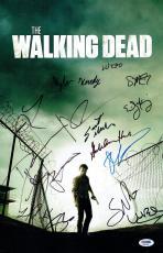 Walking Dead Cast (14) Signed Autographed 11x17 Photo Reedus/Lincoln PSA/DNA COA