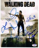 Walking Dead Cast 7x signed 8x10 photo PSA/DNA Andrew Lincoln Reedus James Yeun