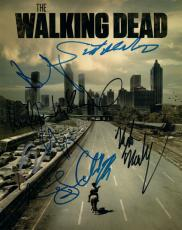 Walking Dead Cast Autographed Andrew Lincoln Normon Reedus Plus 8x10 Photo