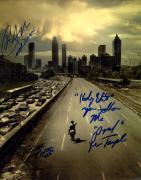 Walking Dead Cast X3 Autographed Signed 11x14 Poster Photo AFTAL UACC RD COA
