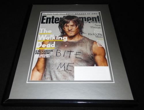 Walking Dead Norman Reedus Framed 2015 Entertainment Weekly Magazine Cover