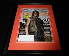 Walking Dead Norman Reedus Framed ORIGINAL Entertainment Weekly Magazine Cover