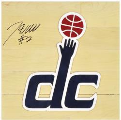"John Wall Washington Wizards Autographed 12"" x 12"" Floor Piece with Logo"