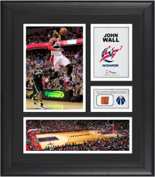 """John Wall Washington Wizards Framed 15"""" x 17"""" Collage with Team-Used Ball"""