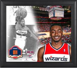 """John Wall Washington Wizards Framed 15"""" x 17"""" Mosaic Collage with Team-Used Basketball-Limited Edition of 99"""