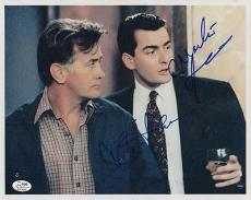 Charlie Sheen & Martin Sheen Wall Street Signed Photo