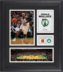 """Gerald Wallace Boston Celtics Framed 15"""" x 17"""" Collage with Team-Used Ball"""