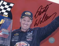 WALLACE, RUSTY AUTO (MILLER LITE/ARM UP) 8X10 PHOTO - Mounted Memories