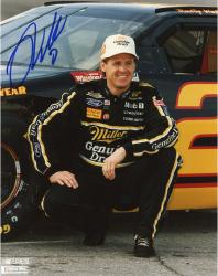WALLACE, RUSTY AUTO (MILLER LITE/SQUATING BY CAR) 8X10 PHOTO - Mounted Memories