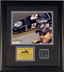 Rusty Wallace Framed 8x10 Photo with Rave Used Daytona Track