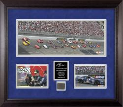 Rusty Wallace Race-Used Tire Mini Panoramic Collectible - Mounted Memories
