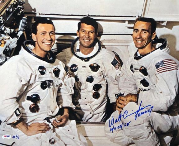 Walt Cunningham Signed 'Apollo 7' 16x20 Photo *Astronaut PSA 4A23059
