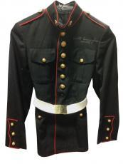 Walt Cunningham signed US Marine Corps Dress coat ins Apollo 7 auto JSA LOA