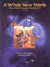Walt Disney Aladdin Signed Autographed Sheet Music Kane Salonga Freeman Beckett