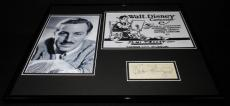 Walt Disney Facsimile Signed Framed 16x20 Photo Display