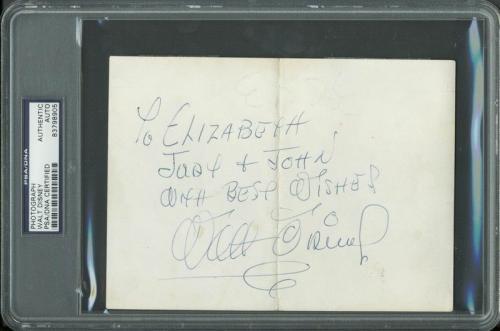 Walt Disney Signed 5x7 Photo Autographed PSA/DNA Slabbed