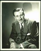 Walt Disney Signed 8x10 Black & White Photo PSA/DNA #Z08542