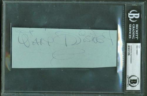Walt Disney Signed Autographed 2.5x6 Large Album Page Beckett BAS Authentic