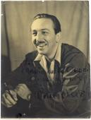 Walt Disney Signed Autographed 7x9 Photograph Beckett BAS Authentic