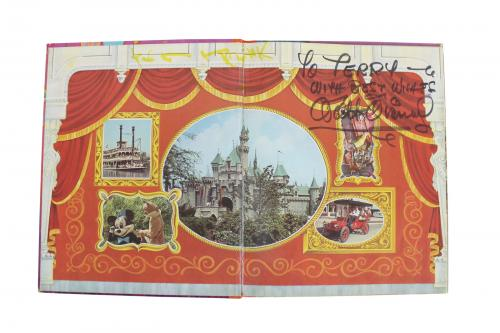 "Walt Disney ""With Best Wishes"" Signed Disneyland Book BAS & Sears LOA"